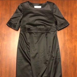NWT BURBERRY BLACK SATIN DRESS